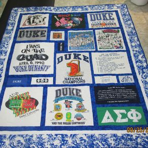 Custom Made King Size T Shirt/Memory Quilt by Stitches by Stiles ... : memorial quilt makers - Adamdwight.com
