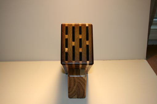 Custom Made Walnut Knife Block
