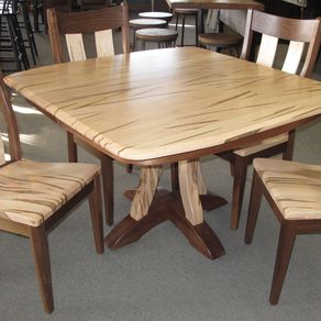 Kitchen Table Walnut Creek Custom made white oak slab by walnut creek furniture custommade rich field single pedestal table by walnut creek furniture workwithnaturefo