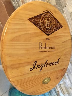 Custom Made Wine Panel Inglenook Lazy Susan With Bearing 20 Inches Diam.