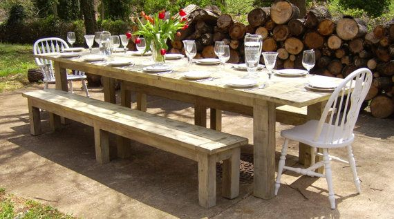 Handmade Reclaimed Wood Parsons Farmhouse Table Family Sized By Wonderland Woodworks Custommade