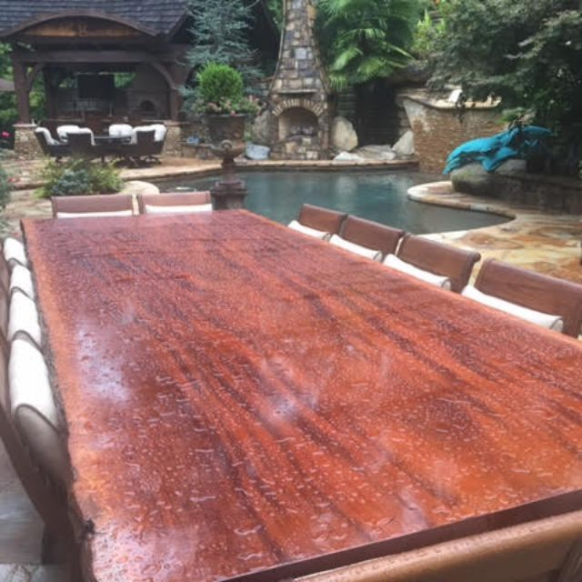 Custom Sipo Mahogany Dining Table by Donald Mee Designs | CustomMade.com