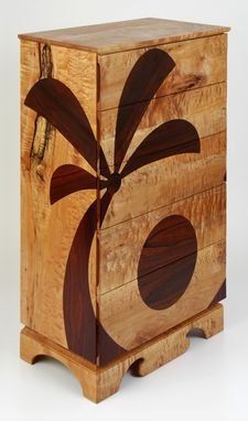 "Custom Made ""Ocean & Earth"" Chest Of Drawers"