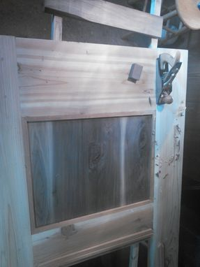 Custom Made Cedar And Walnut Entry Door