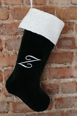 Custom Made Set Of 2 Monogrammed Stockings And A Mini Tree Skirt