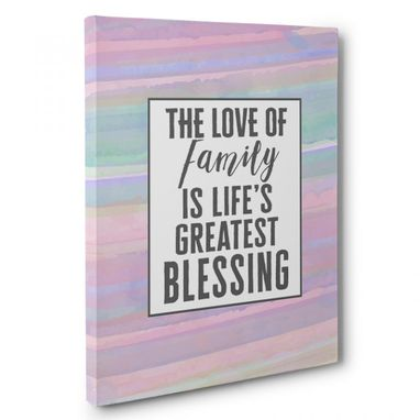 Custom Made The Love Of Family Canvas Wall Art