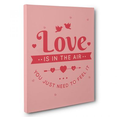 Custom Made Love Is In The Air Canvas Wall Art