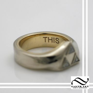Custom Made Take This - Triforce Engagement Ring