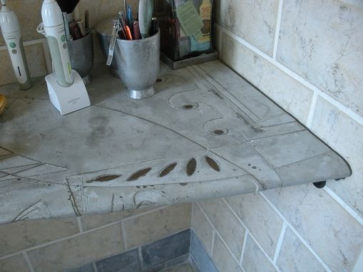 Custom Made Sowell-Skaar Bathroom Concrete Counter-Shelf