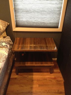 Custom Made Floating End Table.