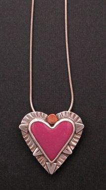 Custom Made Heart Necklace Pendant- Pink