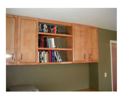 Custom Made Home Office Cabinets