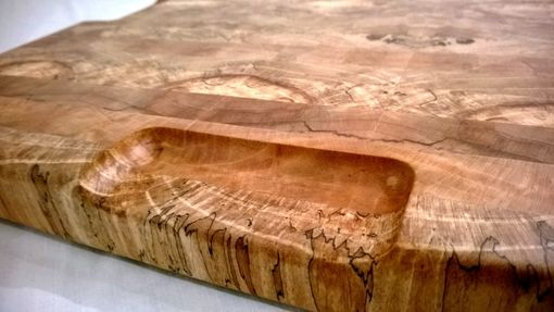Custom Made Maple End Grain Cutting Board With Butterfly Pattern