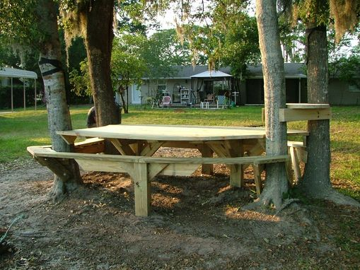 Custom Made Outdoor Custom Picnic Table.