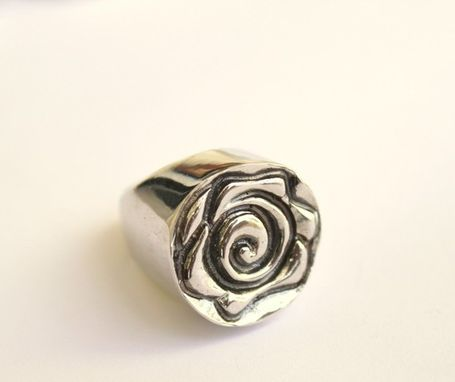 Custom Made Seal Rose Flower Ring