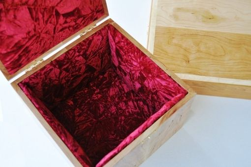 Custom Made Custom Designed Box With Velvet Lining