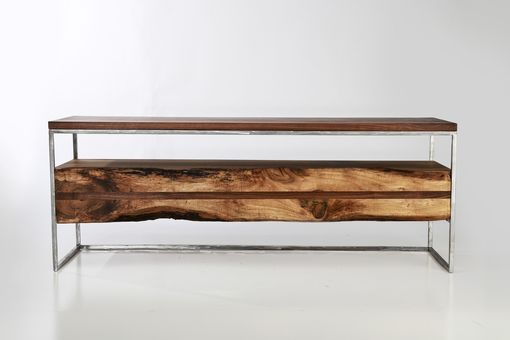 Custom Made Flitch Media Console/ Tv Stand Industrial Rustic