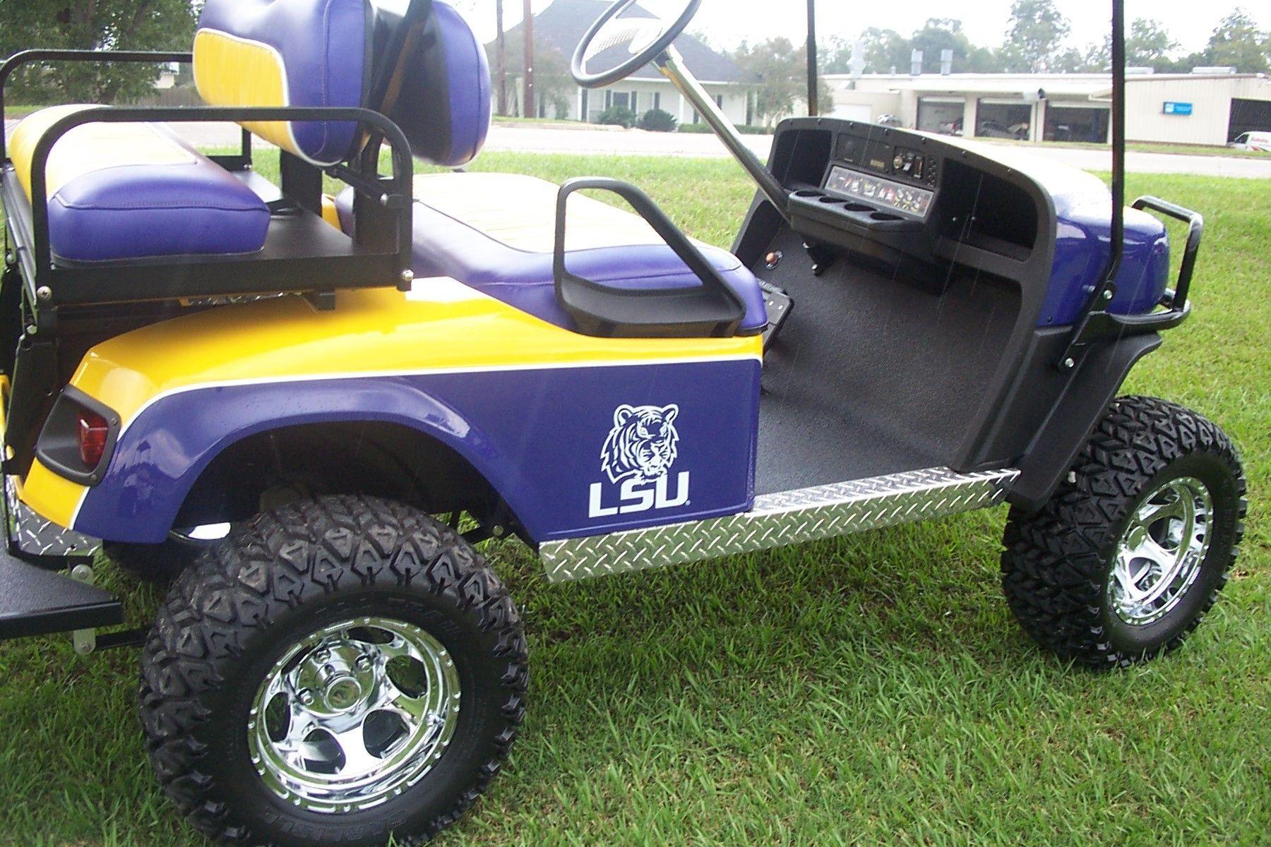Handmade Lsu Golf Cart by Bayou Boogie Customs | CustomMade.com on uva golf cart seats, el tigre golf cart seats, columbia golf cart seats, brown golf cart seats, mississippi state golf cart seats, steelers golf cart seats, alabama golf cart seats, michigan golf cart seats,