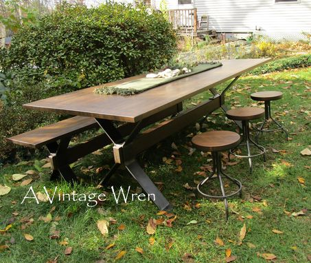 Custom Made Industrial Table/ Modern Industrail Dining Table/ Industrial Farm Table