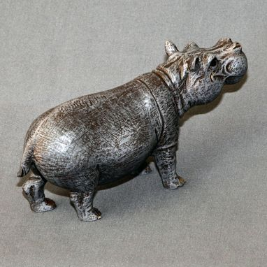 "Custom Made Bronze Hippopotamus ""Hippo Small"" Figurine Statue Sculpture Art Limited Edition Signed & Numbered"