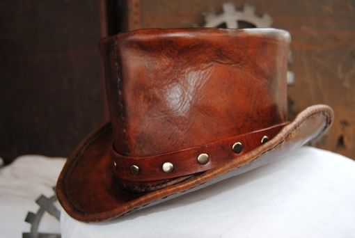 Custom Made Leather Top Hat