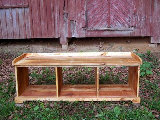 Custom Made Classic Reclaimed Heart Pine Country Hall Storage Bench