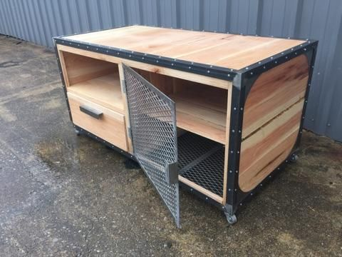 Custom Made Modern Industrial Storage Cart