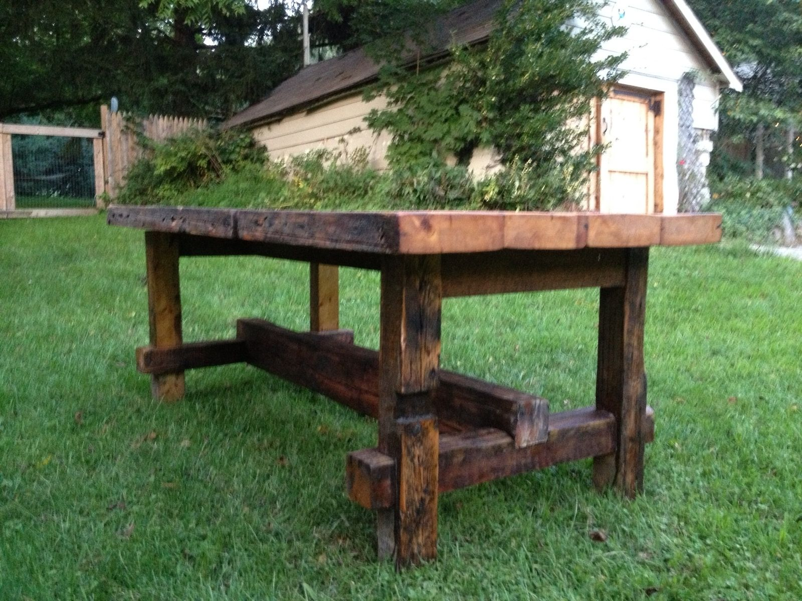 Handmade Reclaimed Pub Table By Elias Custom Furniture And