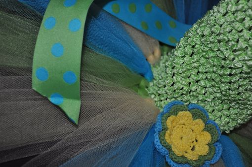 Custom Made Crocheted Halter Tutu Dress Lime, Turquoise, Yellow, Sizes Nb-2t, 2t-6t. Dress Up And Play.
