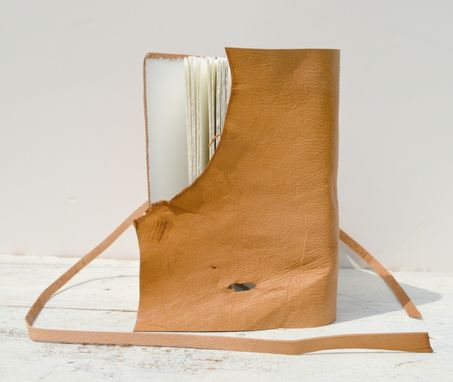 Custom Made Handmade Leather Bound Travel Journal Tan Goatskin Legal Diary Watercolor Notebook