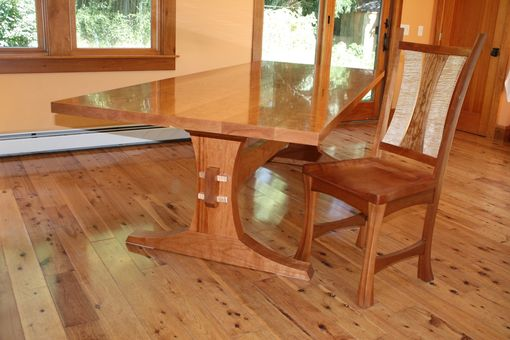Custom Made Trestle Table And Chairs