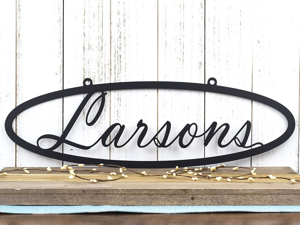 buy a hand crafted custom metal sign name sign last name sign