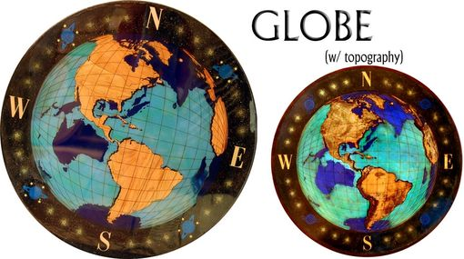 Custom Made Globe Medallion