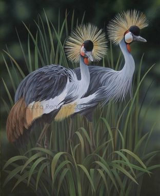 Custom Made Crowned Cranes Original Painting