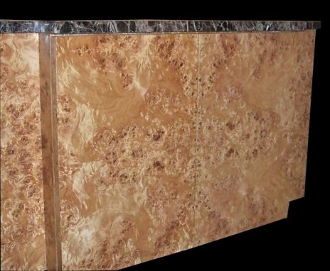 Custom Made Mappa Burl Vanity