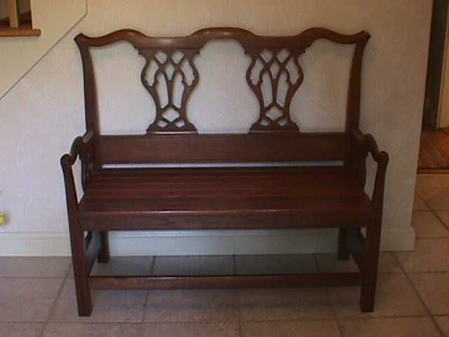 Hand Crafted Walnut Bench From Bed Headboard by Batterman's Custom