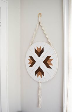 Custom Made Adrastea - Round Macrame Wood Wall Art Hanging