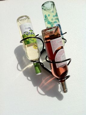 Custom Made Three Wine Bottle Drop