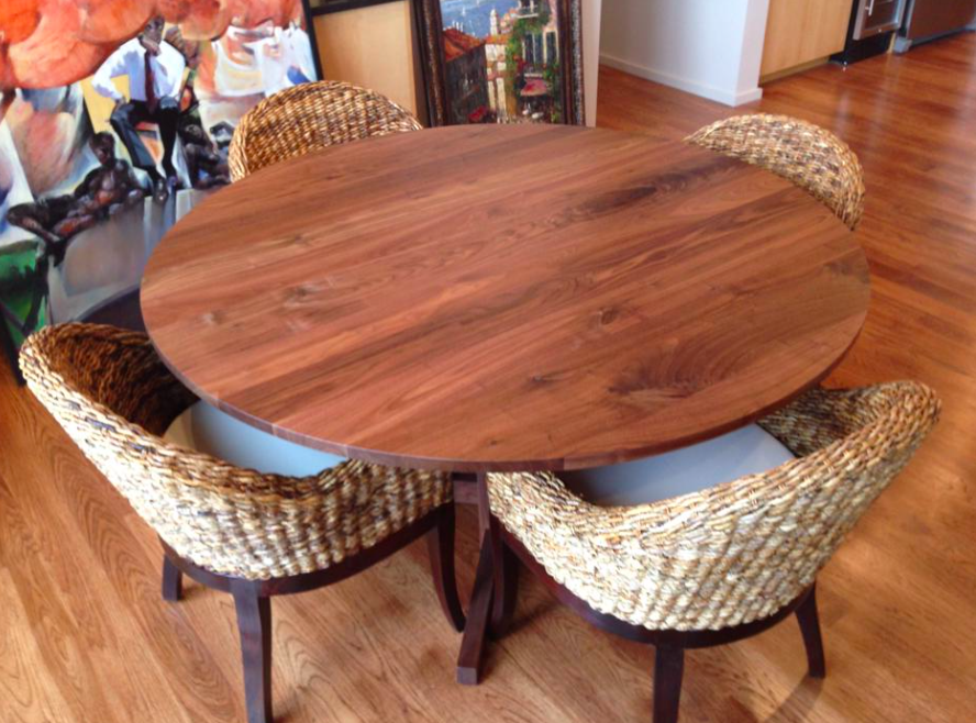60 Round Walnut Table Top