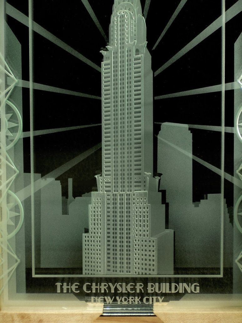 Hand Crafted Chrysler Building Of New York City Art Deco Design