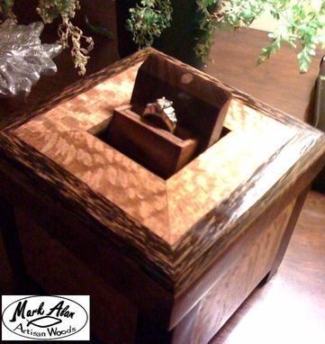 "Custom Made ""Under The Cross"" Engagement Ring Box"