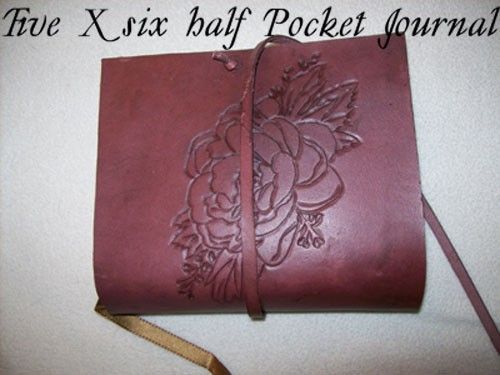 Custom Made Custom Leather Journal With Rose Design