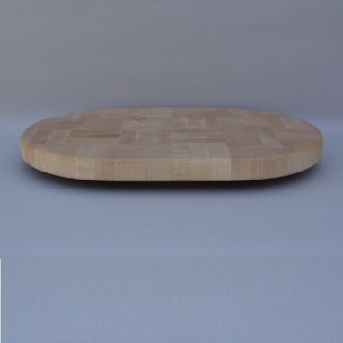 Custom Made Oval Maple End Grain Cutting Board