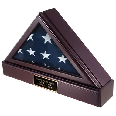 Custom Made Flag Shadow Box + Pedestal + Plate For 5ft X 9ft Flag