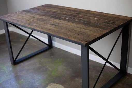 buy a hand made modern industrial dining table/desk. reclaimed
