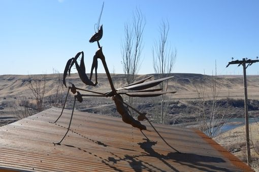 Custom Made Custom Praying Mantis Sculpture