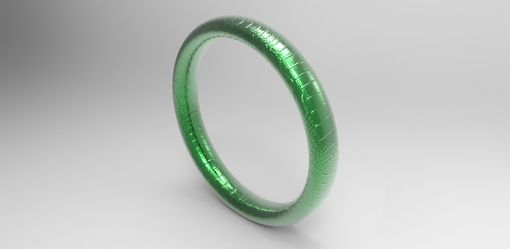 Custom Made 14k Green Gold Alligator Skin Ring - Reptile Skin