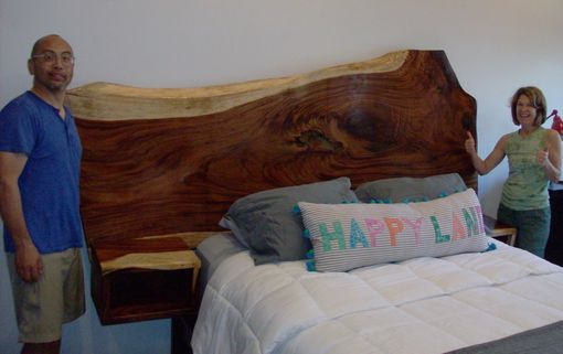 Custom Made Headboard With Floating Nightstands