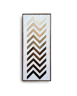 Custom Made Chevron Wood Art, Wood Wall Sculputure, Wall Art Wood, Zig Zag Art