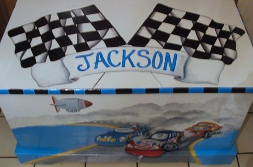 Custom Made Wooden Custom Personalized Race Car Toy Box